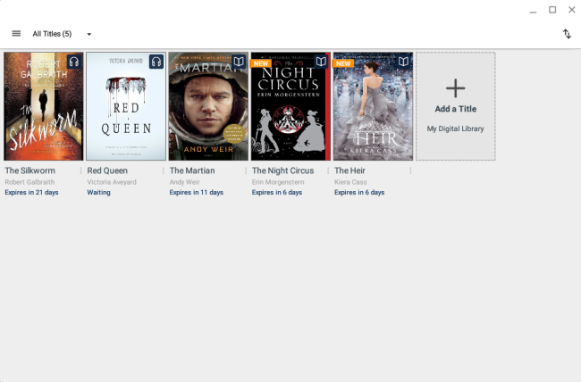 App bookshelf. See instructions above