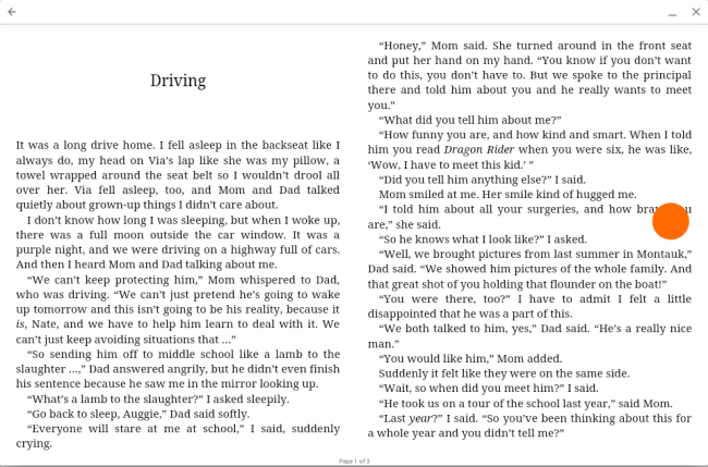 Overdrive how to read ebooks on a chromebook to go to the next page click or tap the right side of the screen fandeluxe Document