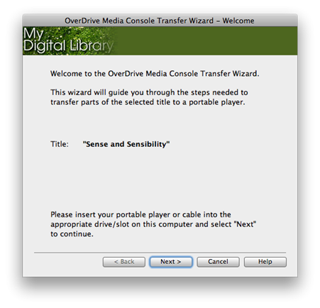 Screenshot of the Welcome screen in the Transfer Wizard.