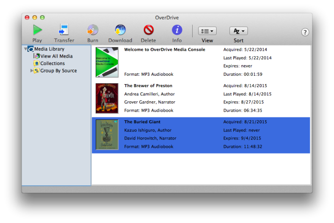 Étagère de livres OverDrive pour Mac Voir les instructions ci-dessus.