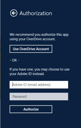 Adobe authorization fields.