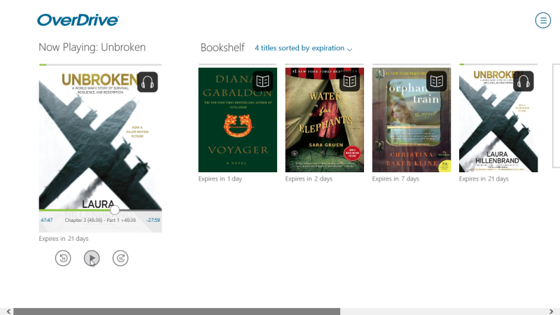 Audiobook in the Now Playing section. See instructions above.