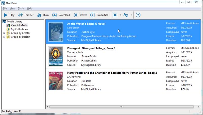 OverDrive's desktop app. See instructions above
