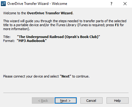 The OverDrive Transfer Wizard. See above for more information.