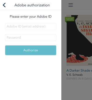 Adobe authorization fields. See instructions above.