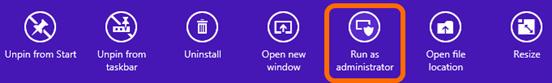 Screenshot showing the Windows 8 program options