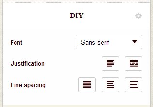 Screenshot of custom book design options