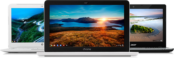 Examples of Chromebook devices