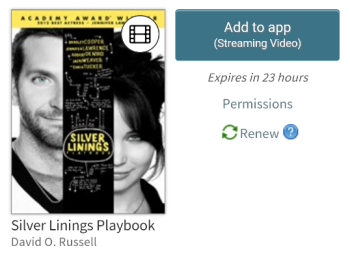 Add to app button for a streaming video. See instructions above.
