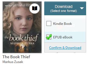 Confirm link for a title with multiple download formats. See instructions above.