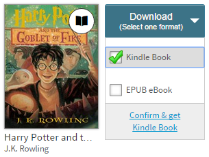 Kindle Book option in the Download drop-down menu. See instructions above.