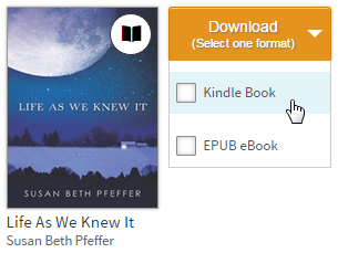 Download button showing list of available formats for a borrowed eBook. See instructions above.