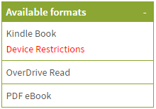 Available formats section of a details page