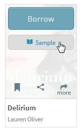The Sample button from the mouse-over menu