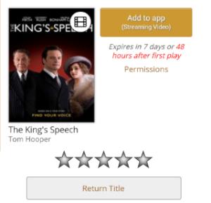 Screenshot of Add to app button