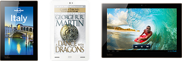 Various Kobo tablets