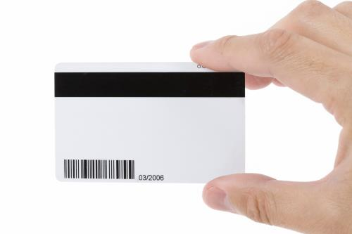 picture of a blank library card