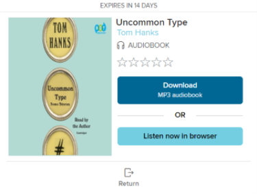 The listen in browser option for an audiobook. See instructions above.