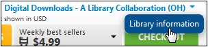 Library information link in OverDrive Marketplace