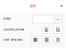 Screenshot showing the DIY options