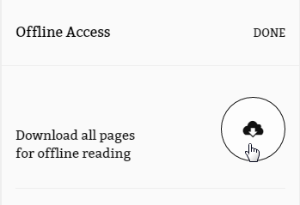 Offline Access panel with cloud icon. See instructions above