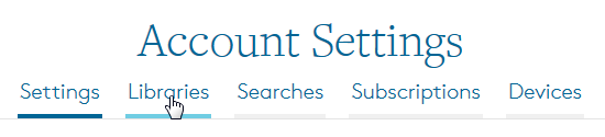 Account Settings header with options. See instructions above