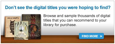 Capture d'écran de la case «Don't see the digital titles you were hoping to find?» (Vous ne voyez pas les titres numériques que vous vouliez trouver?)