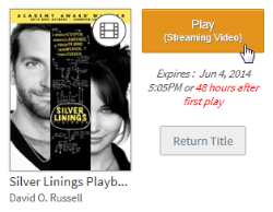 Screenshot of the play in browser button for a borrowed video