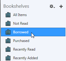 The borrowed bookshelf selected in ADE. See instructions above.