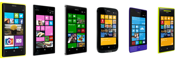 Banner showing various Windows Phones