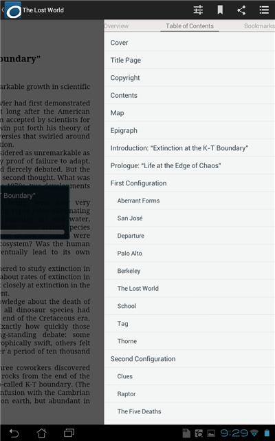 Screenshot showing the Title menu