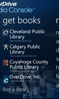 Get books list in the OverDrive app