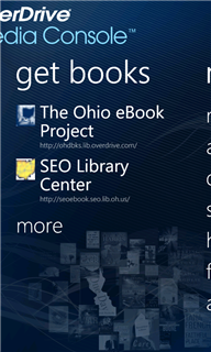 Image of the get books screen.