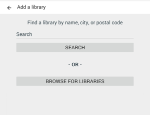Library finder. See instructions above.