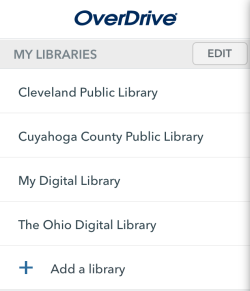 My Libraries list. See instructions above