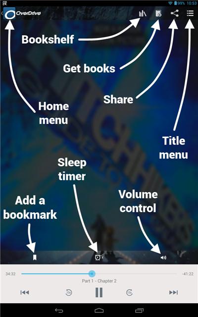 Diagram of audiobook player