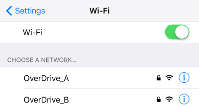 Choosing a Wi-Fi network.