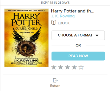 The choose a format and read now options for a borrowed audiobook. See instructions above.