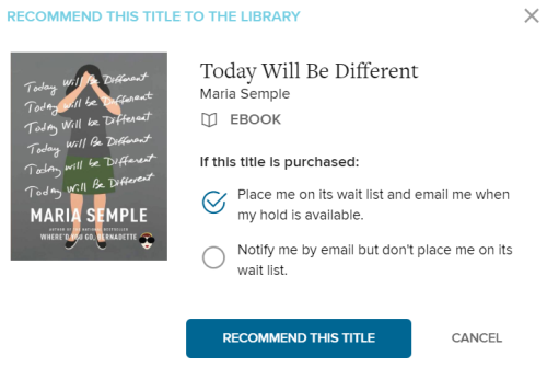 Notification options that appear when you recommend a title. See instructions above.