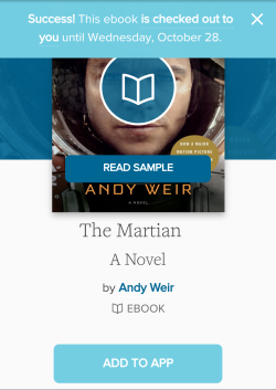 Title details page where the Borrow button turned to Add to app
