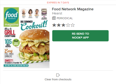 The re-send to Nook app button and clear from checkouts button on the checkouts page.