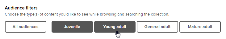 Site-wide audience filters on settings page