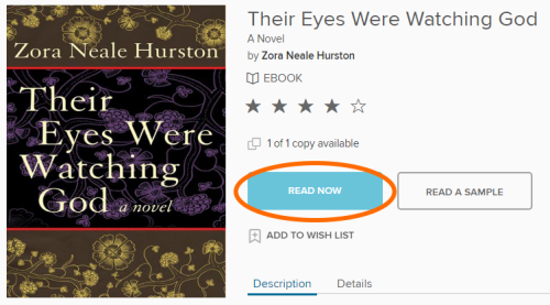 The read now button on a title details page.