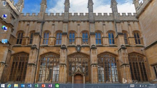Capture d'écran du mode bureau dans Windows 8